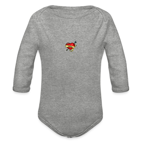 i love mom - Organic Long Sleeve Baby Bodysuit