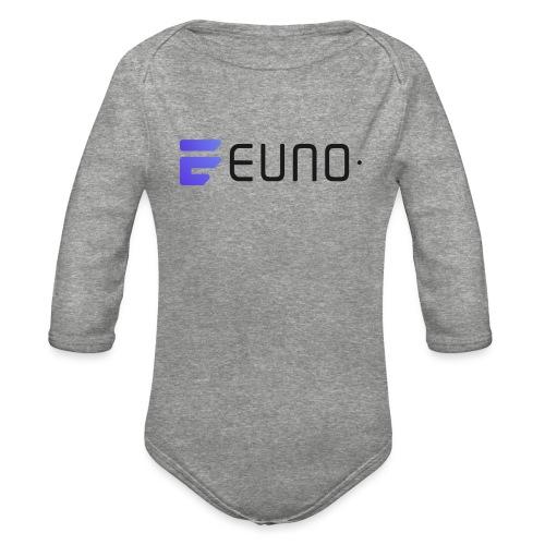 EUNO LOGO LANDSCAPE BLACK FONT - Organic Long Sleeve Baby Bodysuit