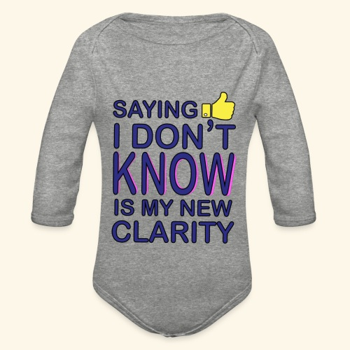 new clarity - Organic Long Sleeve Baby Bodysuit