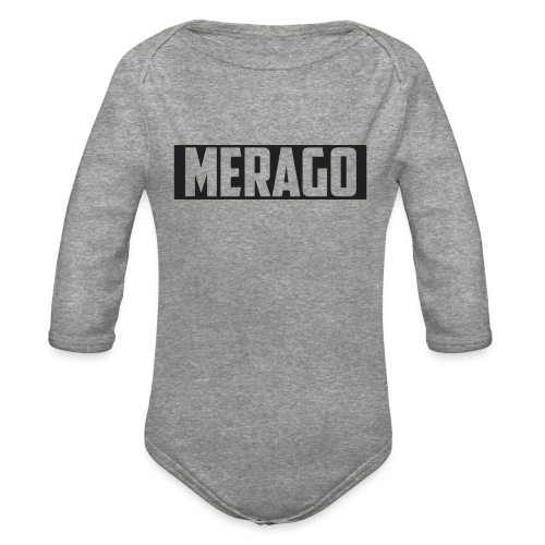 Transparent_Merago_Text - Organic Long Sleeve Baby Bodysuit