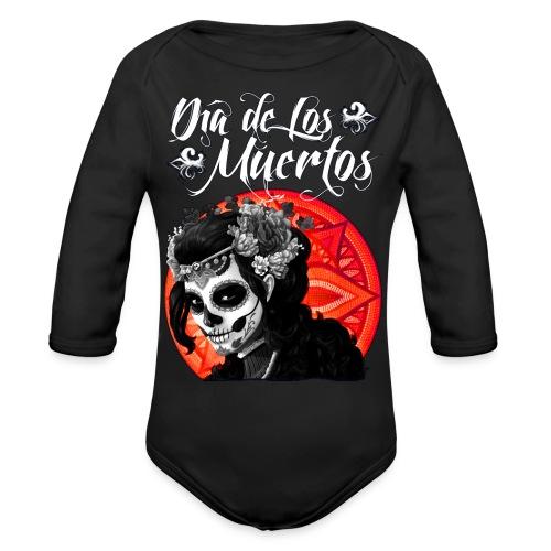 Dia de Los Muertos 01 - Organic Long Sleeve Baby Bodysuit