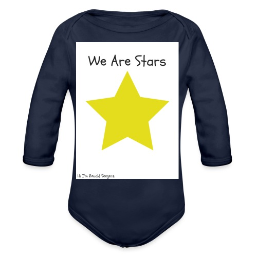 Hi I'm Ronald Seegers Collection-We Are Stars - Organic Long Sleeve Baby Bodysuit