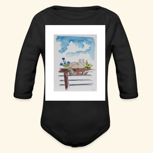 Anna in the Flower Bed - Organic Long Sleeve Baby Bodysuit