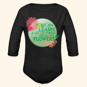 flowerandgarden - Long Sleeve Baby Bodysuit