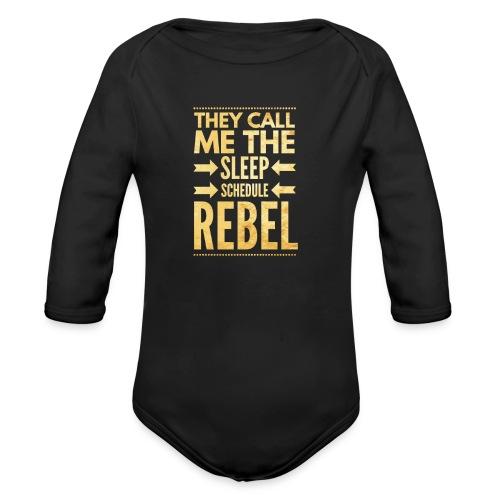 Sleep Schedule Rebel - Organic Long Sleeve Baby Bodysuit
