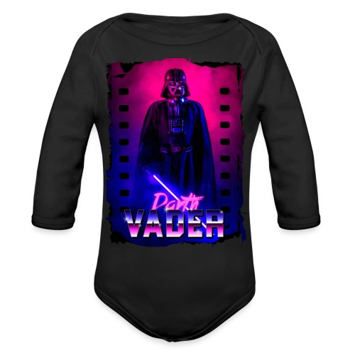 Retro Wave 5 - Organic Long Sleeve Baby Bodysuit
