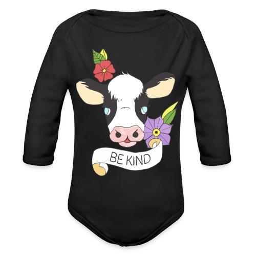 Be kind - Organic Long Sleeve Baby Bodysuit