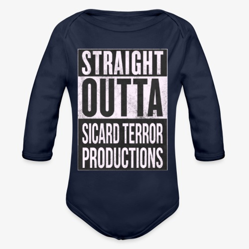 Strait Out Of Sicard Terror Productions - Organic Long Sleeve Baby Bodysuit