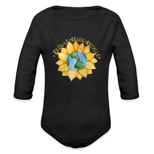 Reduce reuse recycle - Organic Long Sleeve Baby Bodysuit
