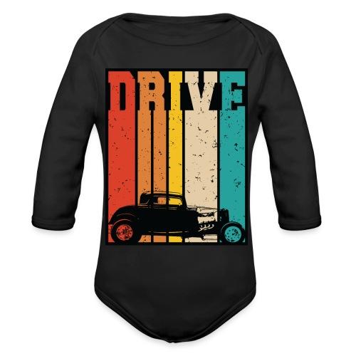 Drive Retro Hot Rod Car Lovers Illustration - Organic Long Sleeve Baby Bodysuit