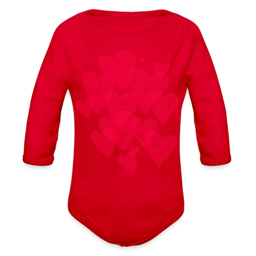 love you - Organic Long Sleeve Baby Bodysuit