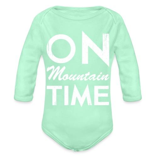 On Mountain Time - Organic Long Sleeve Baby Bodysuit