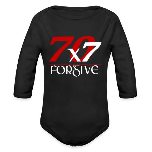 Forgive 70 x 7 times - Organic Long Sleeve Baby Bodysuit