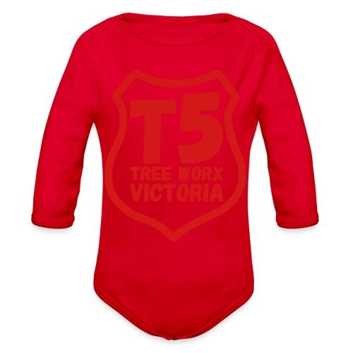T5 tree worx shield - Organic Long Sleeve Baby Bodysuit