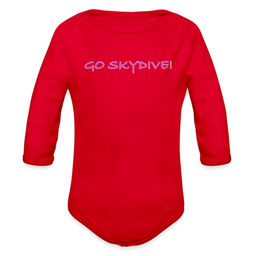 Go Skydive T-shirt/BookSkydive - Organic Long Sleeve Baby Bodysuit