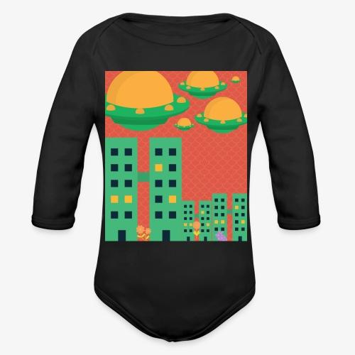 wierd stuff - Organic Long Sleeve Baby Bodysuit