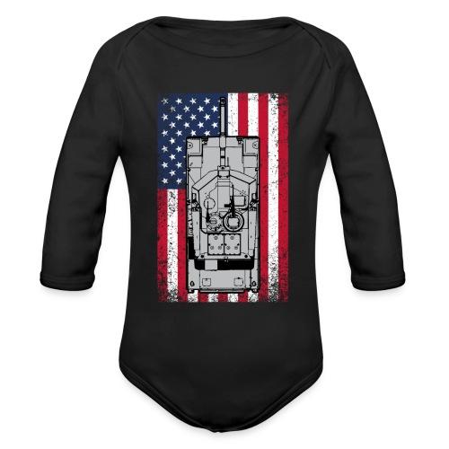 4th of July - Organic Long Sleeve Baby Bodysuit
