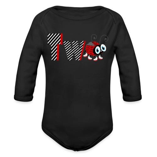 2nd Year Family Ladybug T-Shirts Gifts Daughter - Organic Long Sleeve Baby Bodysuit