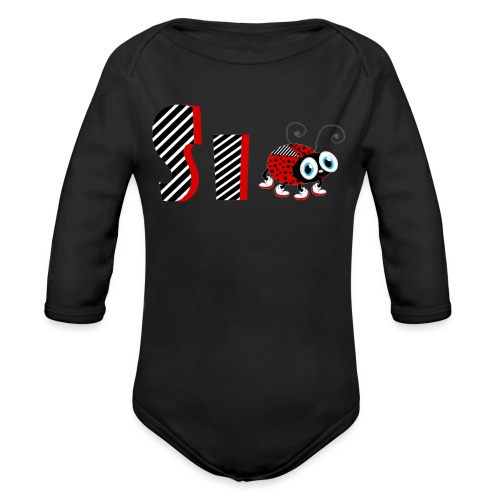 6nd Year Family Ladybug T-Shirts Gifts Daughter - Organic Long Sleeve Baby Bodysuit
