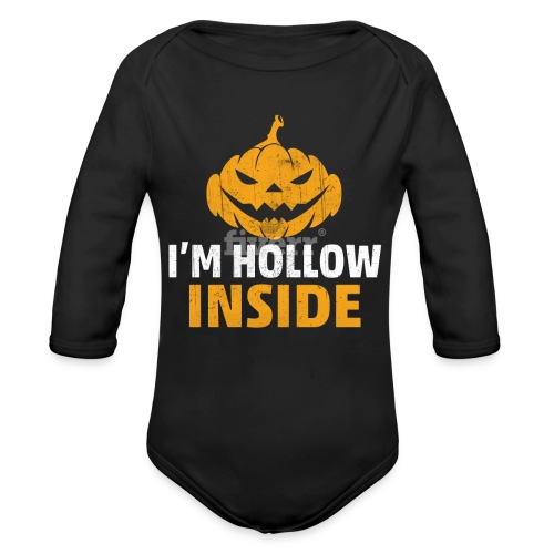 I M Hollow inside - Organic Long Sleeve Baby Bodysuit