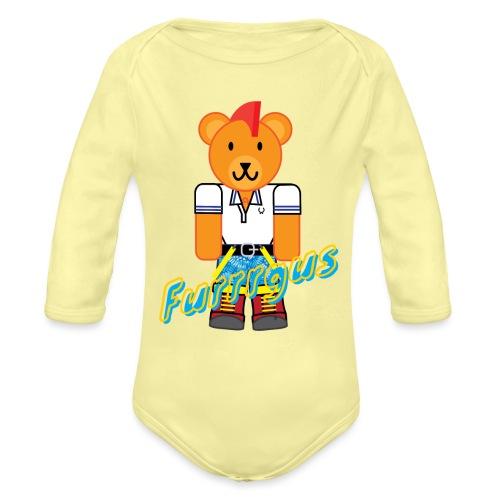 Skinhead Furrrgus - Organic Long Sleeve Baby Bodysuit