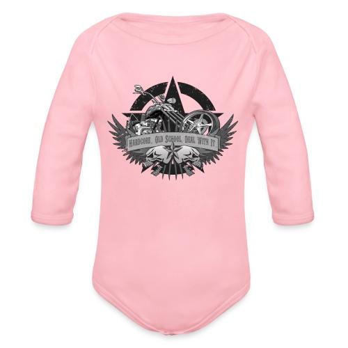 Hardcore. Old School. Deal With It. - Organic Long Sleeve Baby Bodysuit