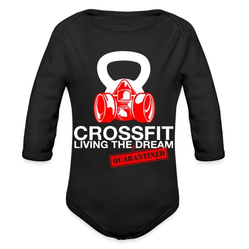 CROSSFIT LTQD - WHITE - Organic Long Sleeve Baby Bodysuit