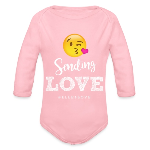 Sending Love - Organic Long Sleeve Baby Bodysuit