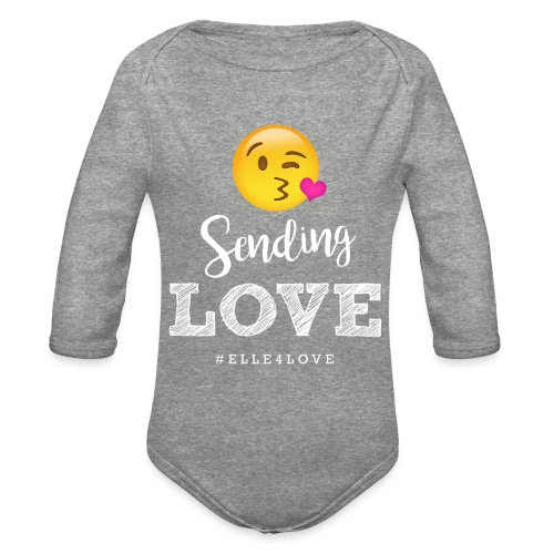 Sending Love - Organic Long Sleeve Baby Bodysuit