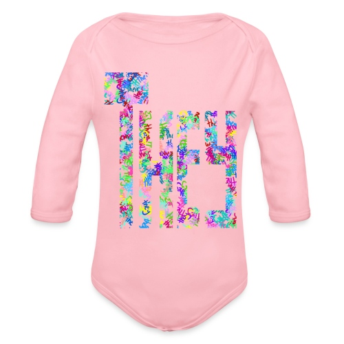 They/Them/Their Pattern They - Organic Long Sleeve Baby Bodysuit