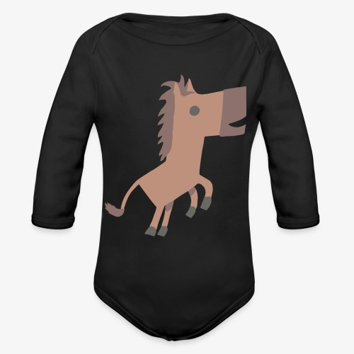 Horse - Organic Long Sleeve Baby Bodysuit