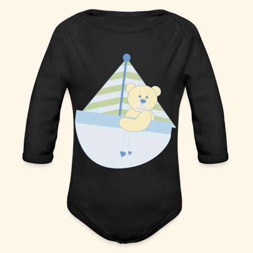 baby ship - Organic Long Sleeve Baby Bodysuit