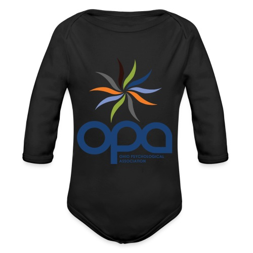 Long-sleeve t-shirt with full color OPA logo - Organic Long Sleeve Baby Bodysuit