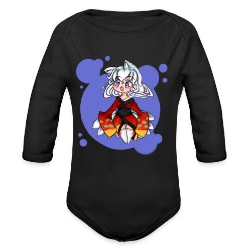 Chibi Kitsune - Organic Long Sleeve Baby Bodysuit