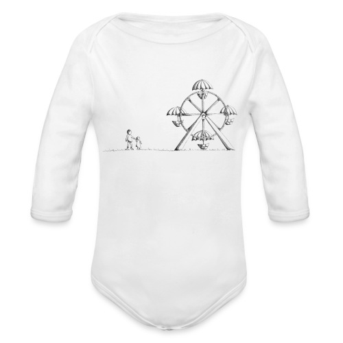 Ferris Wheel - Organic Long Sleeve Baby Bodysuit