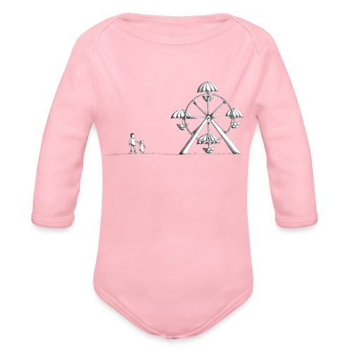 Ferris Wheel - Organic Long Sleeve Baby Bodysuit