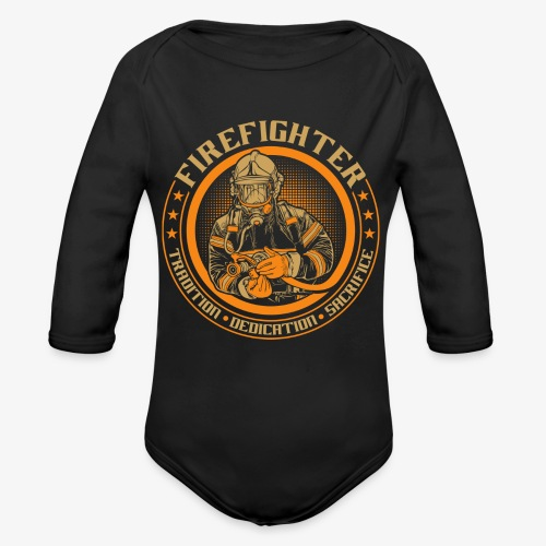 Fire Fighter - Organic Long Sleeve Baby Bodysuit
