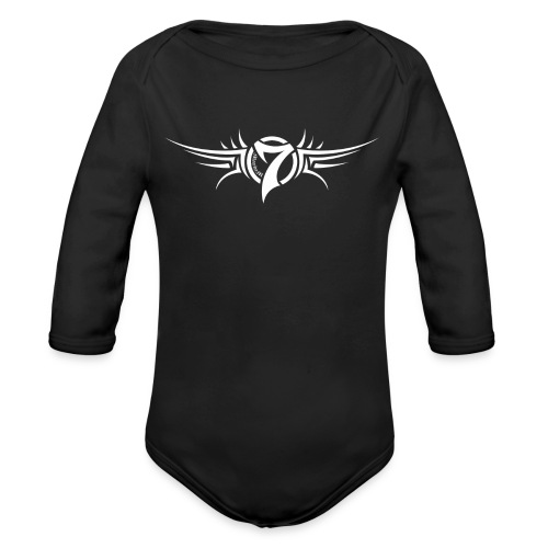 MayheM-7 Tattoo Logo White - Organic Long Sleeve Baby Bodysuit