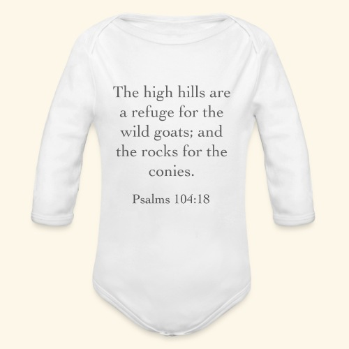 High Hills KJV - Organic Long Sleeve Baby Bodysuit