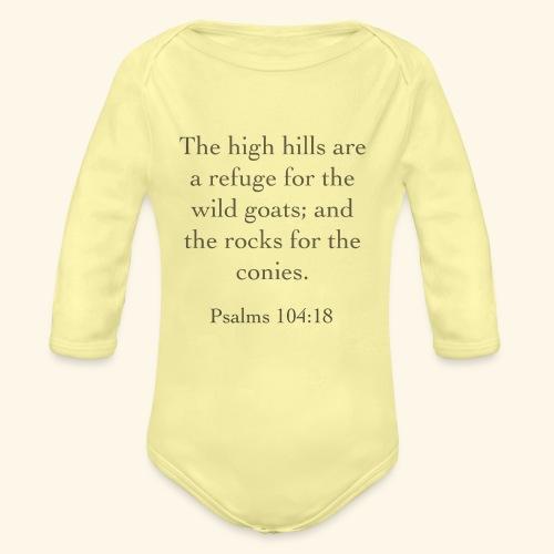 High Hills KJV - Organic Long Sleeve Baby Bodysuit