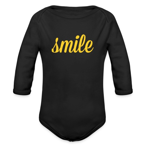 Smile, part ll - Organic Long Sleeve Baby Bodysuit