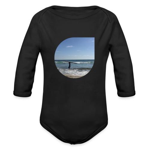 Floating sand - Organic Long Sleeve Baby Bodysuit