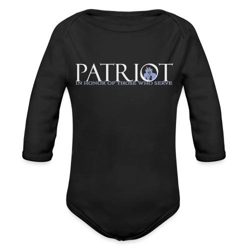PATRIOT-SAM-USA-LOGO-REVERSE - Organic Long Sleeve Baby Bodysuit