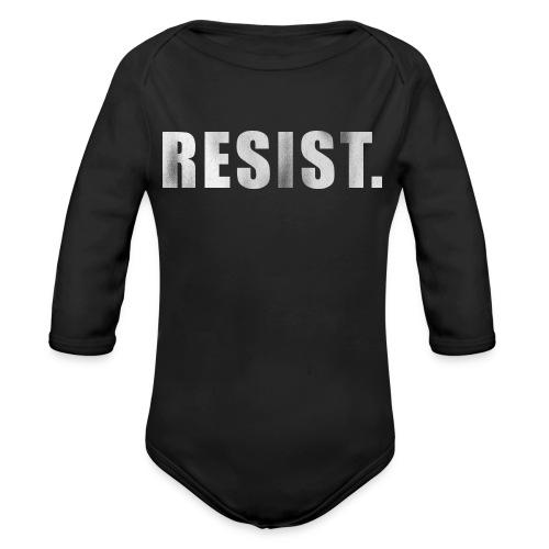 RESIST. - Organic Long Sleeve Baby Bodysuit