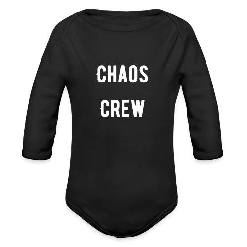 Chaos Crew White - Organic Long Sleeve Baby Bodysuit