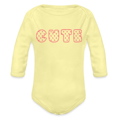 cute-1.png - Organic Long Sleeve Baby Bodysuit