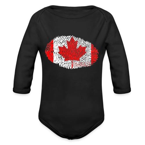 Canadian Identity - Organic Long Sleeve Baby Bodysuit