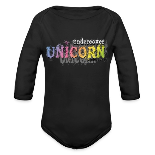 Undercover Unicorn - Organic Long Sleeve Baby Bodysuit
