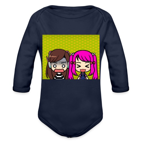 Phone case merch of jazzy and raven - Organic Long Sleeve Baby Bodysuit
