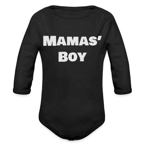 Mamas' Boy - Organic Long Sleeve Baby Bodysuit